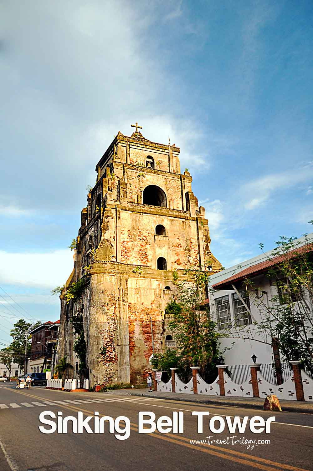 sinking bell tower laoag ilocos norte