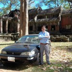 This is Vinith Vuth and his car service that you may hire for sightseeing around Siem Reap.