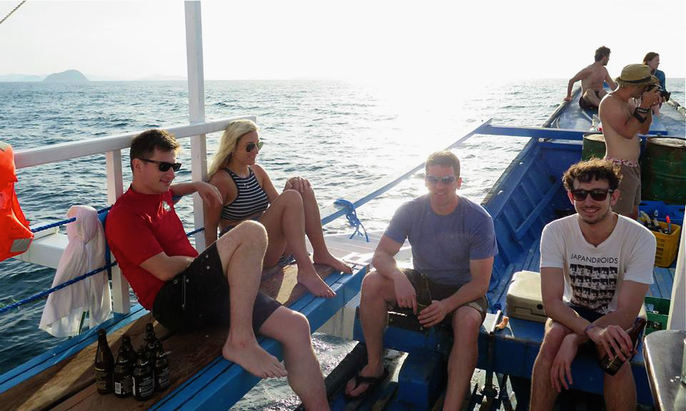 Chillin' redefined on board the Tao boat. Photo credits: Niels Prinssen