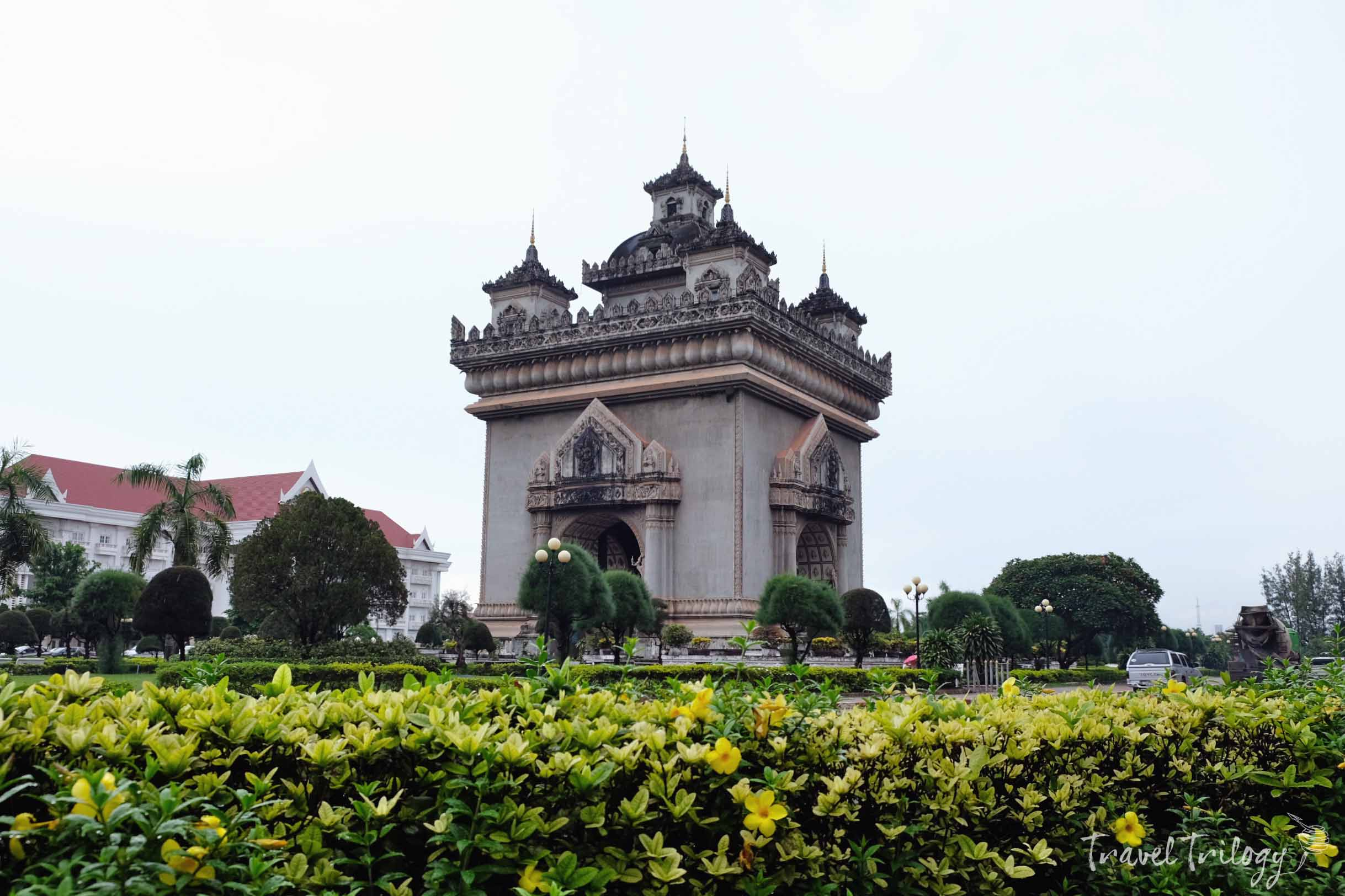 Patuxai Victory Monument commemorates its independence from France.