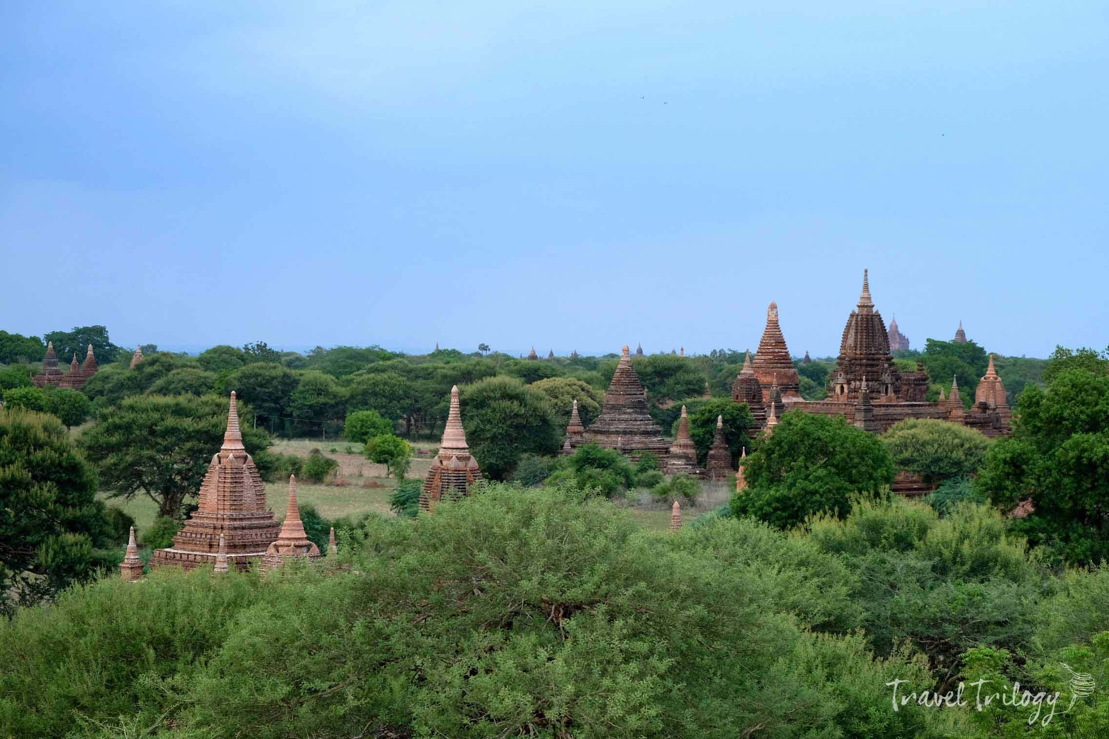 The monuments are clustered within the Bagan Archeological Zone.