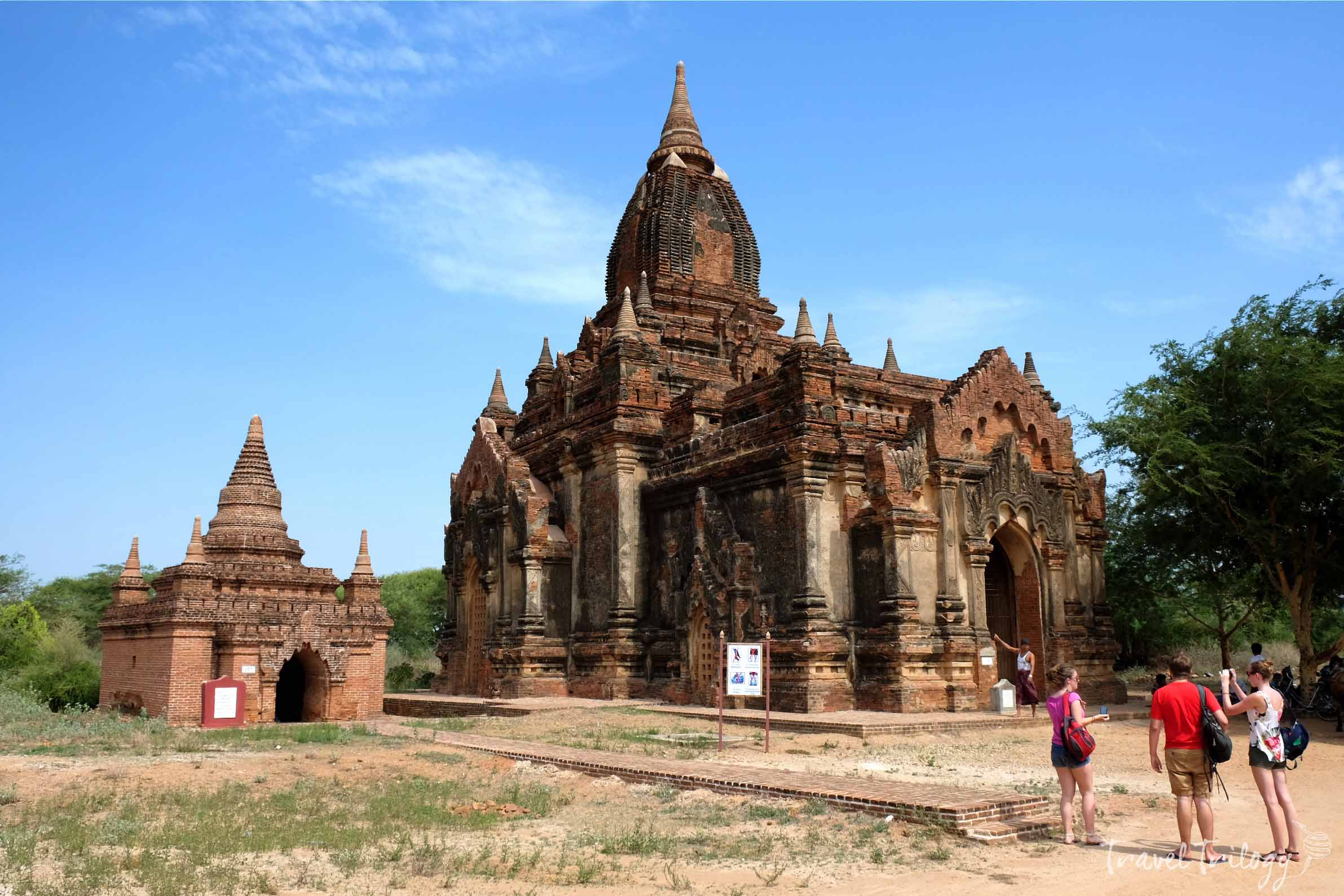 The temples are scattered all around the Old Bagan & the route maps are quite confusing. It helps to have a guide.