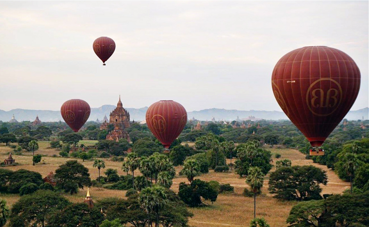 Explore Bagan from the sky on a hot air balloon. Photo courtesy of Carmen Schneider.