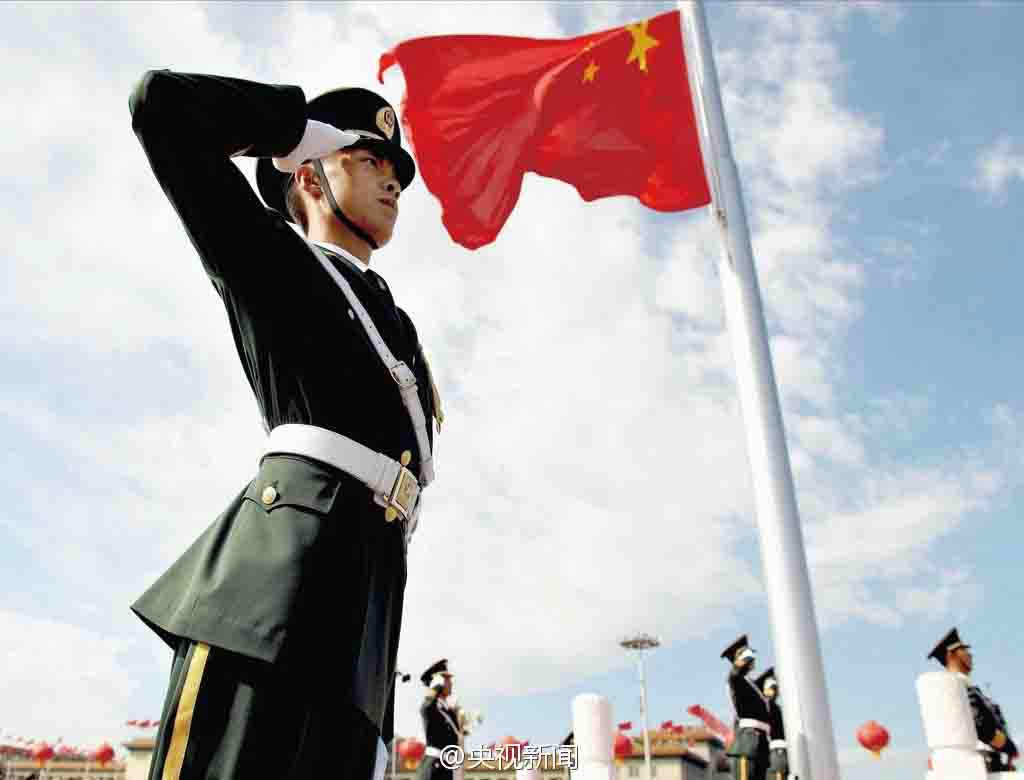 Flag raising ceremony is a daily attraction in Beijing. Photo credits: www.chinasmack.com