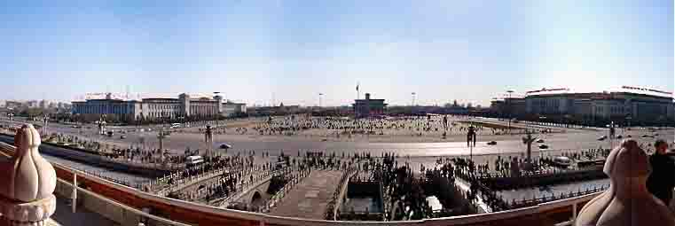Tiananmen Square view from Tiananmen Gate. Photo credits: www.wikipedia.org