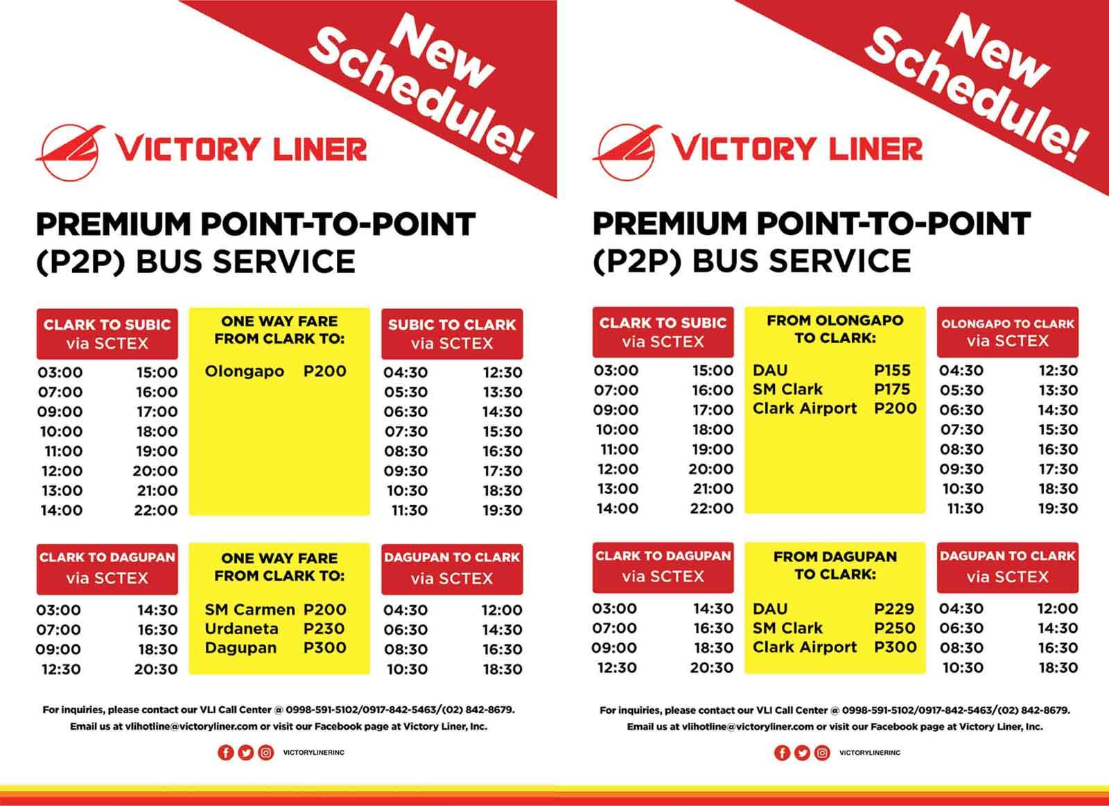 victory liner p2p schedule